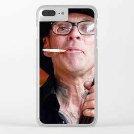 Rough and Tumble - Country Punk Bassist Clear iPhone Case