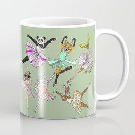 Animal Ballet Hipsters - Green Coffee Mug