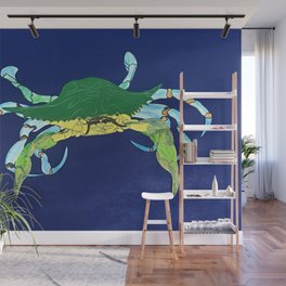Crab Collage Wall Mural