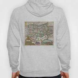 Vintage Map of Switzerland (1747)  Hoody