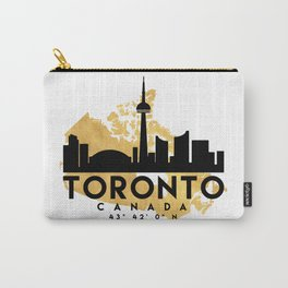 TORONTO CANADA SILHOUETTE SKYLINE MAP ART Carry-All Pouch