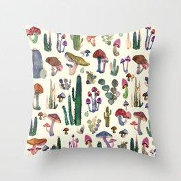 CACTUS AND MUSHROOMS NEW Throw Pillow