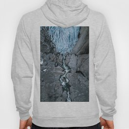 Frozen Rose - Aerial of a Glacier - Landscape Photography Hoody