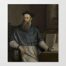 Portrait of Daniele Barbaro, Paolo Veronese, 1556 - 1567 Canvas Print