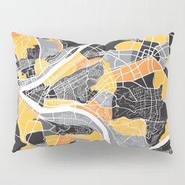 Pittsburgh Map Pillow Sham