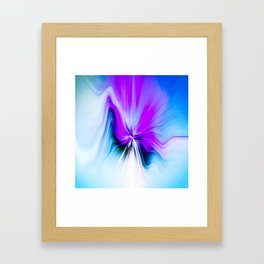 Abstract Moving Butterfly Design Framed Art Print
