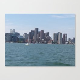 Boston Harbor in the Summer Canvas Print