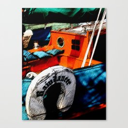 Painted Boat Canvas Print