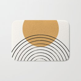 Gold Sun rainbow mid-century full Bath Mat