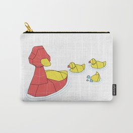 Mother Goose and her Ducklings going out for a swim Carry-All Pouch