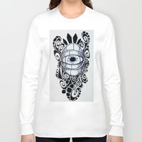 evil eye Long Sleeve T-shirts featuring Evil Eye by King Catastropa