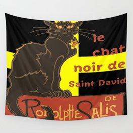 Le Chat Noir De Saint David De Rodolphe Salis Wall Tapestry