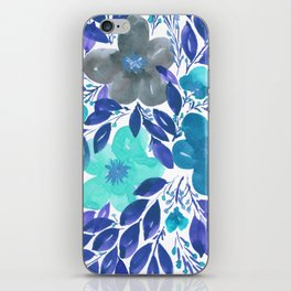 hand painted flowers_3 iPhone Skin