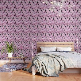 A Sea of Light Pink Chrysanthemums #1 #floral #art #Society6 Wallpaper