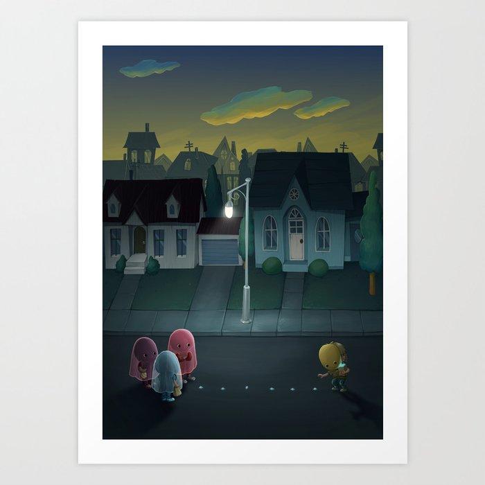 Pacman: Halloween Edition Art Print