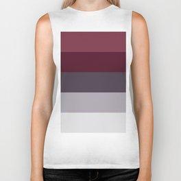 scandinavian moody winter fashion dark red plum burgundy grey stripe Biker Tank