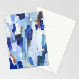 Blues - abstract art Stationery Cards
