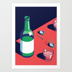 A night out in Seoul - Part 2 - Soju Time Art Print