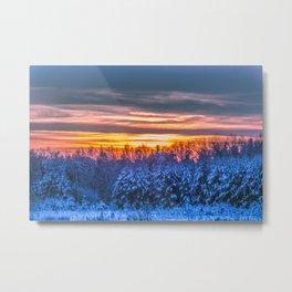 Magic winter sunset Metal Print