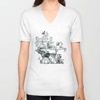 history V-neck T-shirts featuring Natural History by Jonathan P