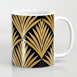Art Deco Luxurious Gold and Ebony Black Elegant Design Coffee Mug