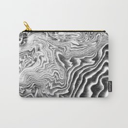 Marble Suminagashi 2 watercolor pattern art pisces water wave ocean minimal design Carry-All Pouch