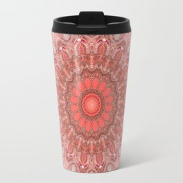 Romantic Blush Taupe Mandala Design Travel Mug
