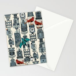 steampunk towers Stationery Cards