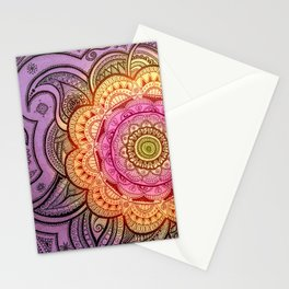 Colorful Mandala Stationery Cards