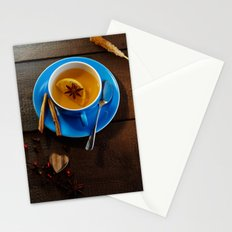 Winter tea with fresh spices  Stationery Cards