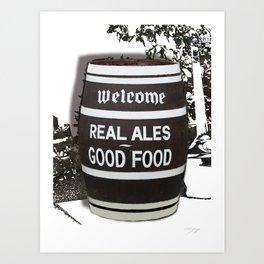 Real Ale Beer Barrel Art Print