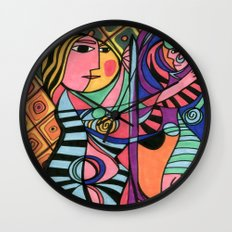 Lady in the Mirror Wall Clock