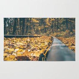 Autumn railway Rug