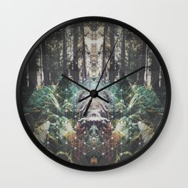 Forest Grid Wall Clock