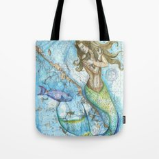 Key Largo Mermaid Tote Bag