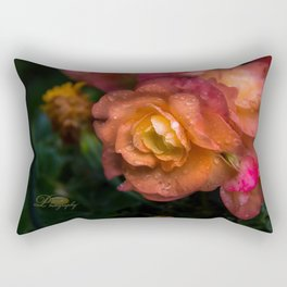 Begonia Droplets Rectangular Pillow
