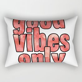 Good Vibes Only Watercolor Rectangular Pillow