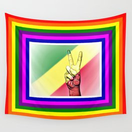 Republic Of The Congo World Peace Flag Wall Tapestry