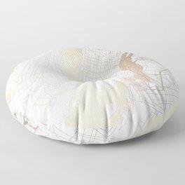 New York City White on Gold Floor Pillow