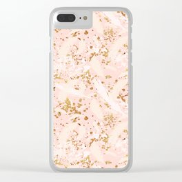 Feather peacock peach gold #6 Clear iPhone Case