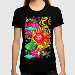 Fish Cute Colorful Doodles T-shirt