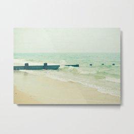 Sea Groyne Metal Print