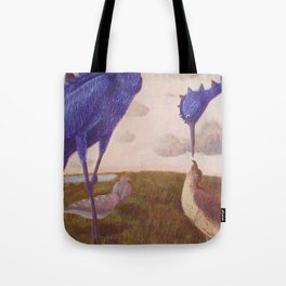 Ort the Purple Bird Tote Bag