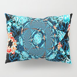 HypnoSpace- Tangent Blue & Orange Pillow Sham