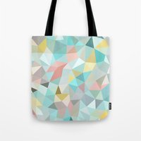 pastel Tote Bags featuring Pastel Tris by Beth Thompson