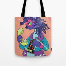 Space Ferret in 90's Threads Tote Bag