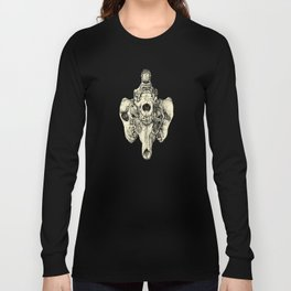 Coyote Skulls - Black and White Long Sleeve T-shirt
