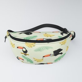 Toucan tropical pattern Fanny Pack