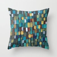 klimt Throw Pillows featuring New Klimt  by Angela Capacchione