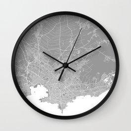 Mackay map grey australia Wall Clock